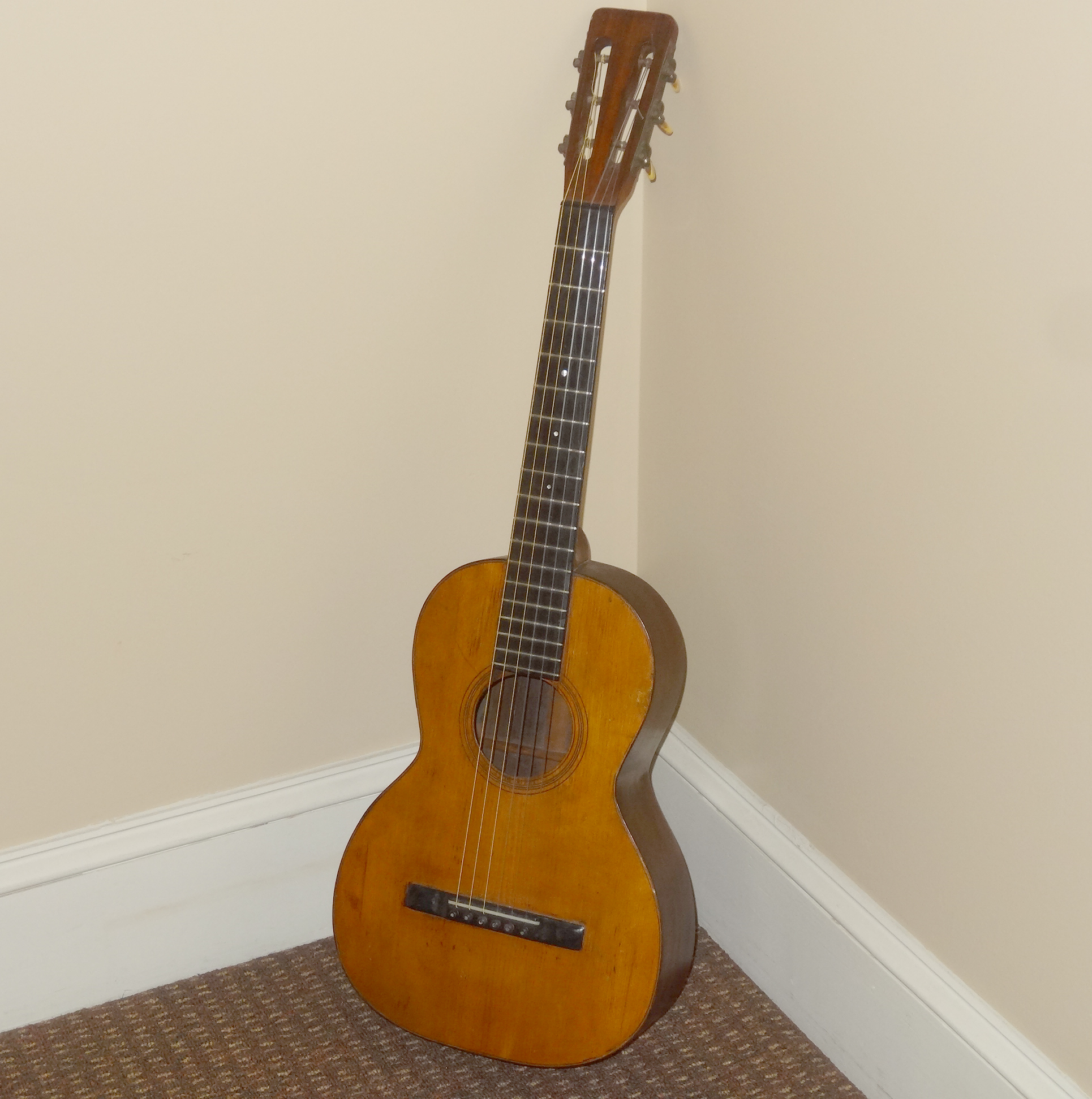 Martin parlor guitar, 2017, repaired! - The Alan Sondheim Mail Archive